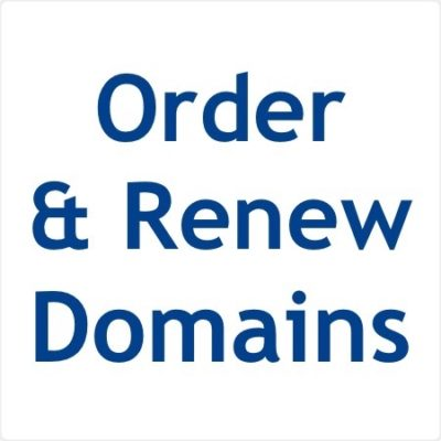 Domain Orders and Renewals